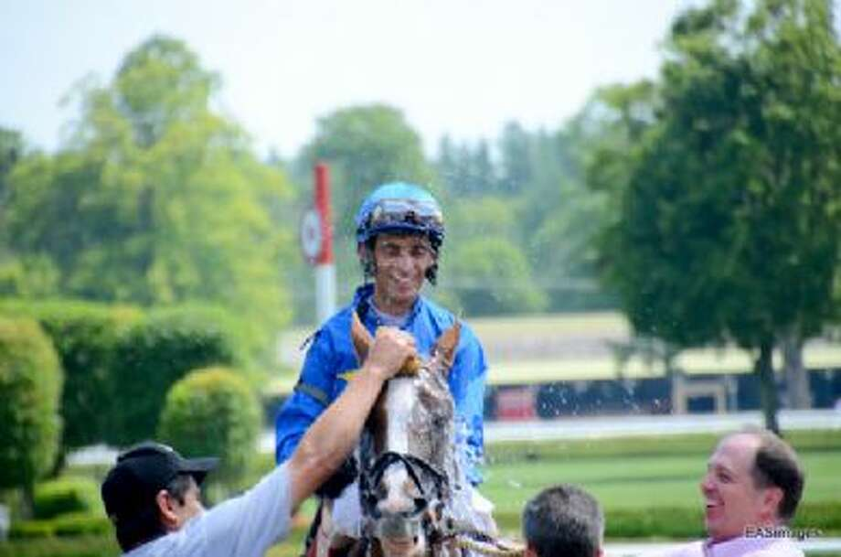 Johnny Velazquez gets closer to the top winning jockey at Saratoga. (Ed Sindoni)