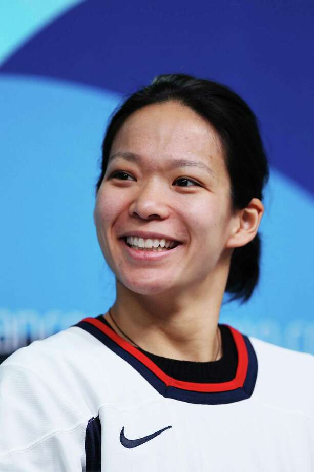 VANCOUVER, BC - FEBRUARY 11:  United States women's Ice Hockey team member Julie Chu attends a press conference ahead of the Vancouver 2010 Winter Olympics on February 11, 2010 in Vancouver, Canada. Photo: Jamie Squire, Getty Images / 2010 Getty Images