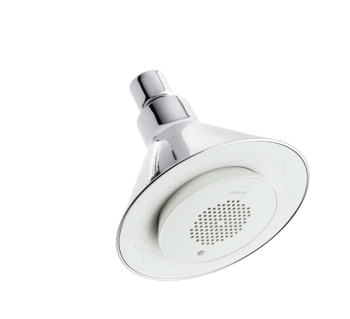 You want a better bathroom, but don't want to put a drain on your finances? It's easy to give the bathroom a makeover with small changes, such as a new showerhead. The Moxie Showerhead by Kohler features an integrated speaker.