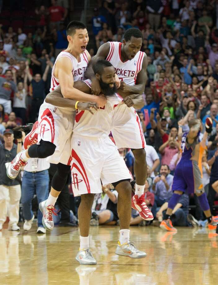 Team on his back  Harden's season was amazing to say the least. He failed to reach double-digits in scoring only twice and resurrected the Clutch City hype that took over the city in the mid-90s. Photo: Smiley N. Pool, Chronicle