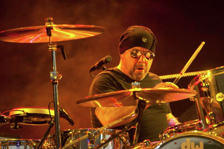 Jason Bonham, son of Led Zeppelin drummer, John Bonham, performs at the Cynthia Woods Mitchell Pavillion as Jason Bonham's Led Zeppelin Experience opened for Heart Wednesday, Aug. 14, 2013, in The Woodlands. Photo: Johnny Hanson, Houston Chronicle / © 2013  Houston Chronicle