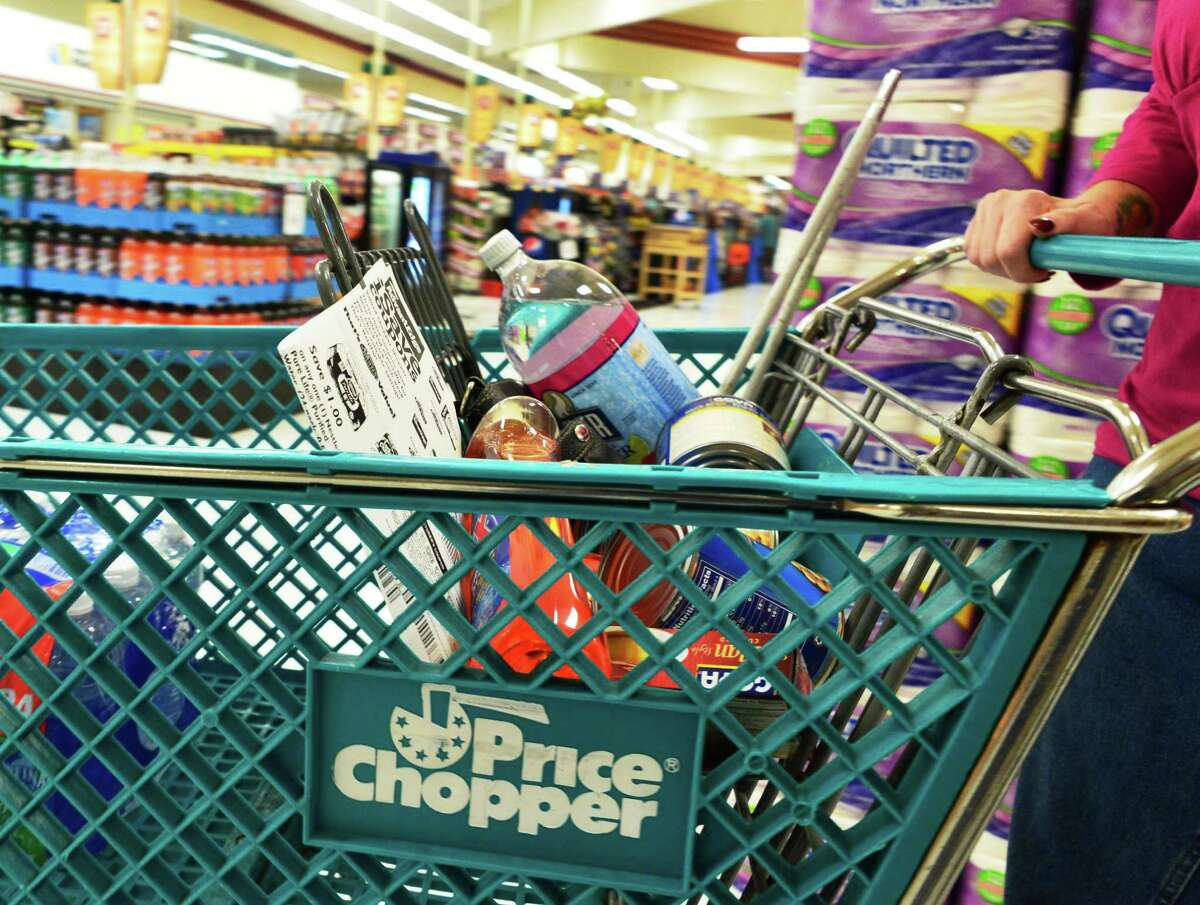 Robbin Dzembo of Rensselaer shops for groceries at the Price Chopper grocery store at Westgate Shopping Plaza Monday, Aug. 12, 2013, in Albany, N.Y. (John Carl D'Annibale / Times Union)