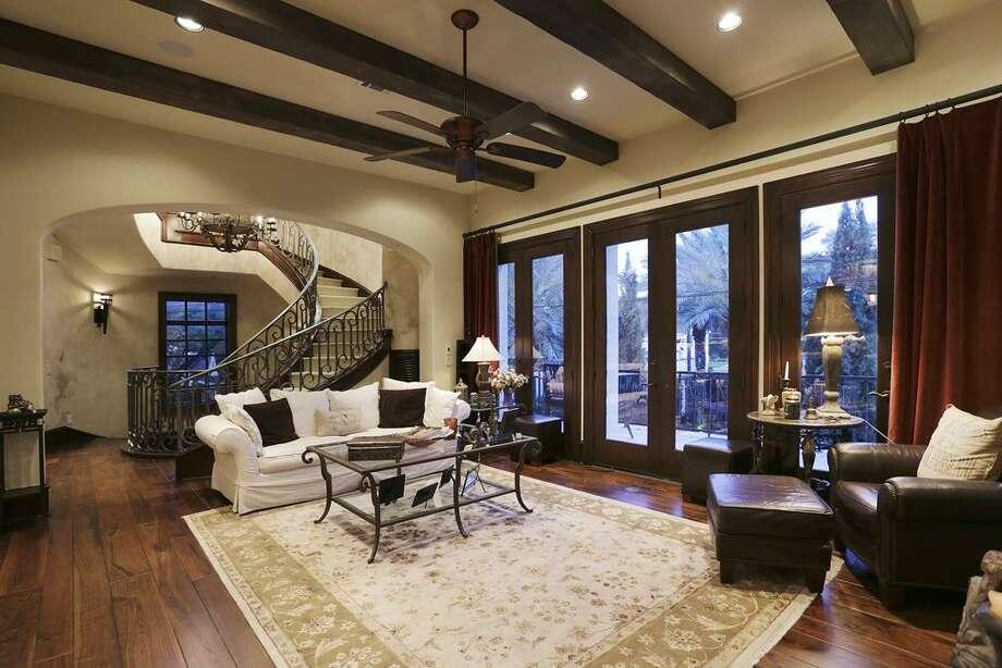 Living room - walnut floor.