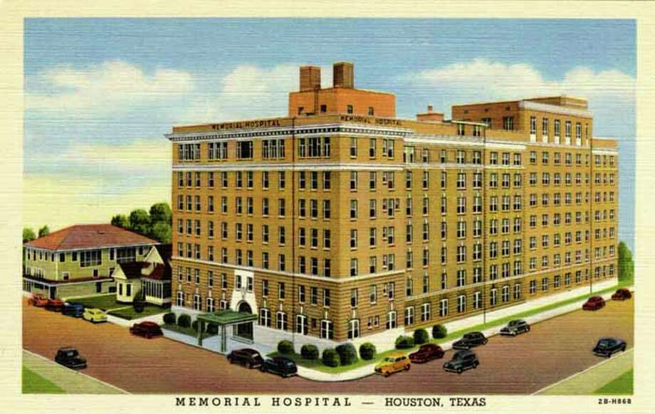 UNITED STATES - CIRCA 1942:  Vintage linen postcard showing the exterior of Memorial Hospital and the surrounding area.    (Photo by Lake County Museum/Getty Images) Photo: Curt Teich Postcard Archives, Getty Images / Curt Teich Postcard Archives