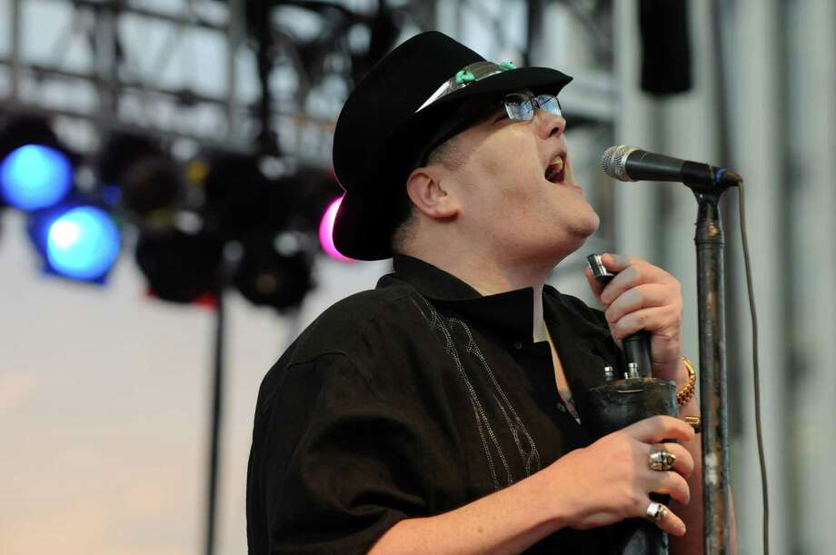 John Popper lead singer of Blues Traveler performs during the New York State's Annual Food Festival at the Empire State Plaza on Wednesday Aug. 14, 2013 in Albany, N.Y. (Michael P. Farrell/Times Union) Photo: Michael P. Farrell, Albany Times Union / 00023497A