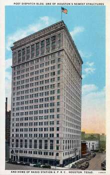 HOUSTON - 1928:  Vintage postcard showing the exterior of the Post Dispatch Building, a twenty-two story Beaux Arts skyscraper. (Photo by Lake County Museum/Getty Images) Photo: Curt Teich Postcard Archives, Getty Images