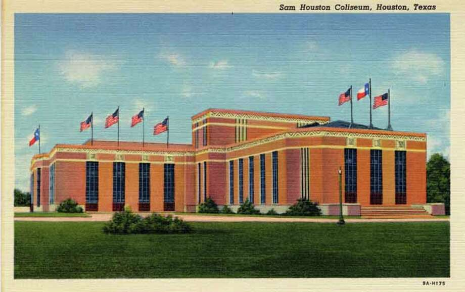 HOUSTON - 1939:  Vintage postcard showing the Sam Houston Coliseum in Houston. (Photo by Lake County Museum/Getty Images) Photo: Curt Teich Postcard Archives, Getty Images / Archive Photos