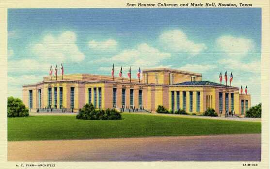 HOUSTON - 1936:  Vintage postcard showing the Sam Houston Coliseum and Music Hall in Houston. (Photo by Lake County Museum/Getty Images) Photo: Curt Teich Postcard Archives, Getty Images / Archive Photos