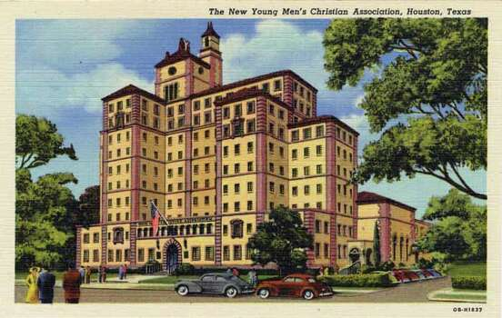 HOUSTON - 1940:  Vintage postcard showing a YMCA building in Houston. (Photo by Lake County Museum/Getty Images) Photo: Curt Teich Postcard Archives, Getty Images / Archive Photos