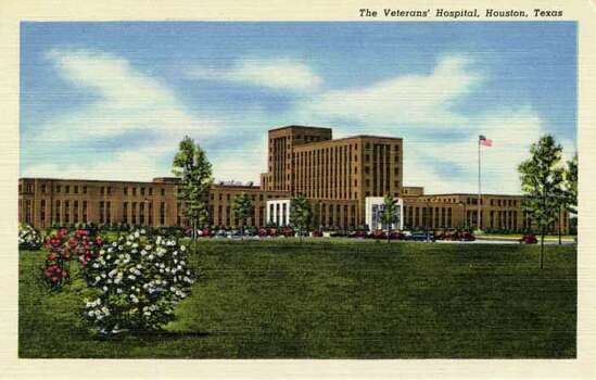 HOUSTON - 1950:  Vintage postcard showing the Veterans' Hospital in Houston. (Photo by Lake County Museum/Getty Images) Photo: Curt Teich Postcard Archives, Getty Images / Archive Photos