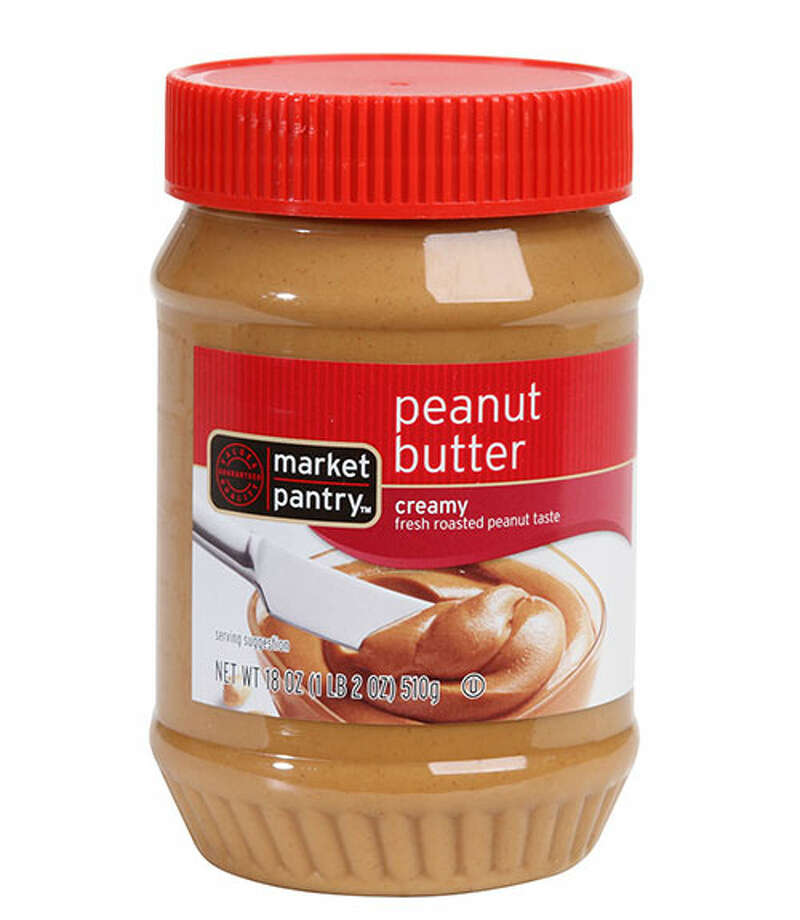 """Market Pantry Creamy Peanut ButterOne taster exclaimed, """"I am so happy. This is peanut butter!"""" when tasting Market Pantry Creamy Peanut Butter ($2.69 for 18 oz.). Volunteers approved of this one's smooth texture, which felt lighter and almost fluffy. The classic flavor, deemed more on the salty side than sweet, """"tastes like what mom used to buy."""" Photo: Courtesy Of The Company"""