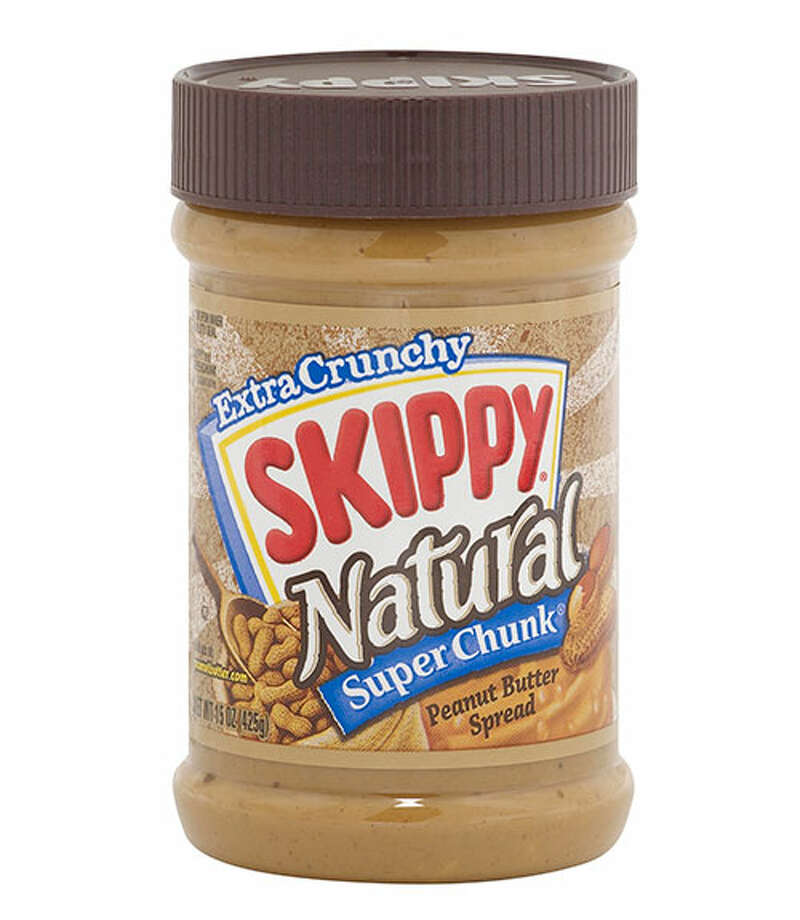 "Skippy Natural SuperChunk Peanut ButterSkippy Natural SuperChunk Peanut Butter's ($2.99 for 15 oz., amazon.com) ""classic taste"" was so memorable that one person identified it by name during the blind taste test. Both creamy and crunchy, this peanut butter maintains a ""sweeter, nutty flavor"" with huge pieces of peanut. Only a couple of tasters thought it was too salty and that it could have been crunchier. Photo: Courtesy Of The Company"