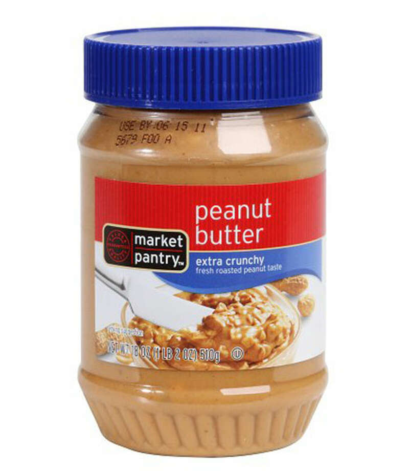 "Market Pantry Crunchy Peanut Butter""If you like extra-chunky, then this one's for you,"" said one taster when trying Market Pantry Crunchy Peanut Butter ($2.69 for 18 oz.), deeming it ""perfect for the true peanut lover."" Extra creamy and loaded with large peanut chunks, it maintains a true peanut taste while being ""sweet and slightly saltier than the others."" The volunteers' only concern was that it would be difficult to spread on soft bread. Photo: Courtesy Of The Company"