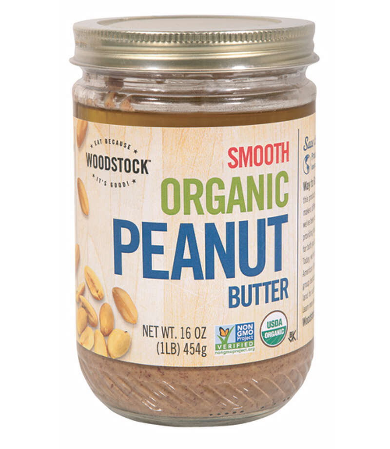 "Woodstock Organic Smooth Peanut ButterThis ""super sticky"" contestant received mixed reviews. While many enjoyed Woodstock Organic Smooth Peanut Butter's ($9.99 for 16 oz., amazon.com) rich and creamy texture, others found it ""too chewy"" and didn't like how it stuck to the roofs of their mouths. Most thought the flavor was on the bland side, but a couple of testers said it had a fruity sweetness that ""would be really good with bananas."" Photo: Courtesy Of The Company"