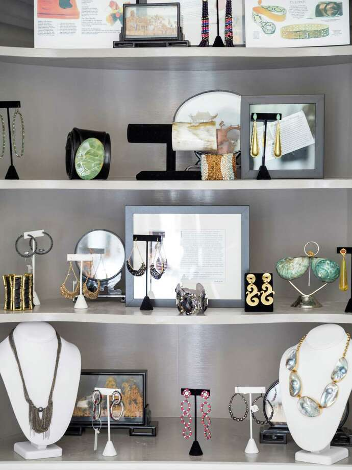 WILLOWJill Faucetta packs a lot into her roughly 1,000-square-foot, white-bright accessories shop near River Oaks. The stylish owner's personal taste reflects in her stock, all artfully arranged in vignettes; there are large statement necklaces, cuffs and cocktail rings, cool clutches and bags, as well as one-off curiosities such as napkin rings. Most items are less than $500. Bonus: For those without their ears pierced, there's a chic selection of clip-ons. 3201 Westheimer, 713-870-0270; shopwillow.com. Photo: Michael Paulsen, Staff / © 2012 Houston Chronicle
