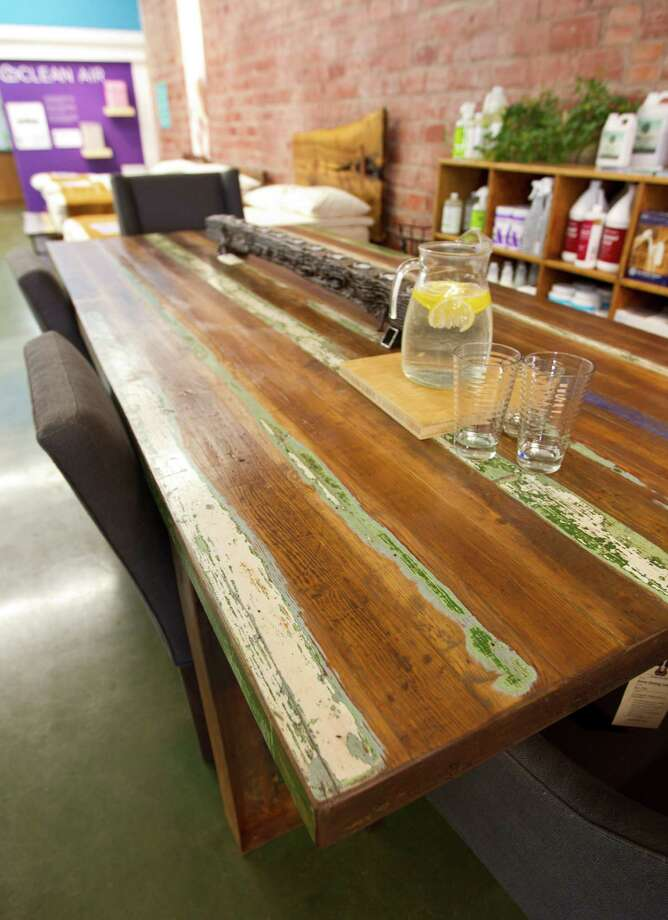 NEW LIVINGFrom a corner in the old Wagner's Hardware, New Living has slowly expanded its green paint and furniture footprint, both in Rice Village and the Heights. Here you can find nontoxic paint, green countertops and tiles and reclaimed flooring. There's also a selection of reclaimed wood furniture, manufactured on-site, and an organic mattress section in the Heights store. 6111 Kirby, 713-521-1921; 321 W. 19th, 832-659-0123, newliving.net. Photo: Karen Warren, Staff / © 2013 Houston Chronicle