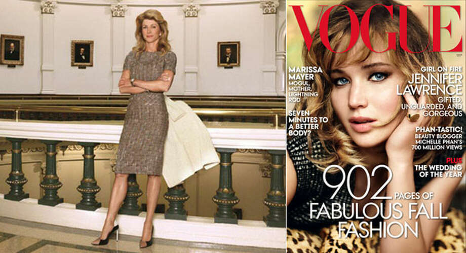 Wendy Davis is interviewed in the new edition of Vogue magazine. Photo: Courtesy