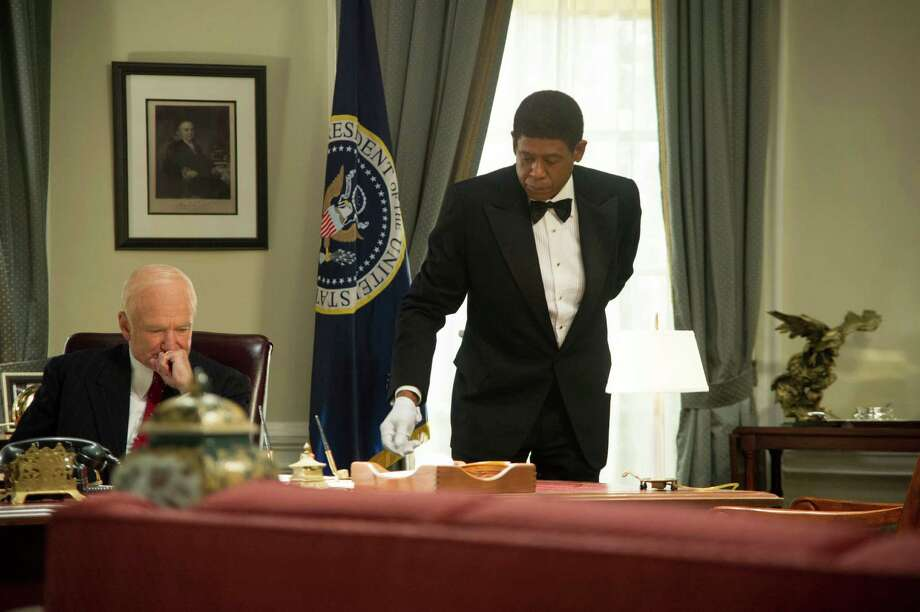 "This film image released by The Weinstein Company shows Robin Williams as Dwight Eisenhower, left, and Forest Whitaker as Cecil Gaines in a scene from ""Lee Daniels' The Butler."" (AP Photo/The Weinstein Company, Anne Marie Fox) ORG XMIT: NYET147 Photo: Anne Marie Fox / The Weinstein Company"