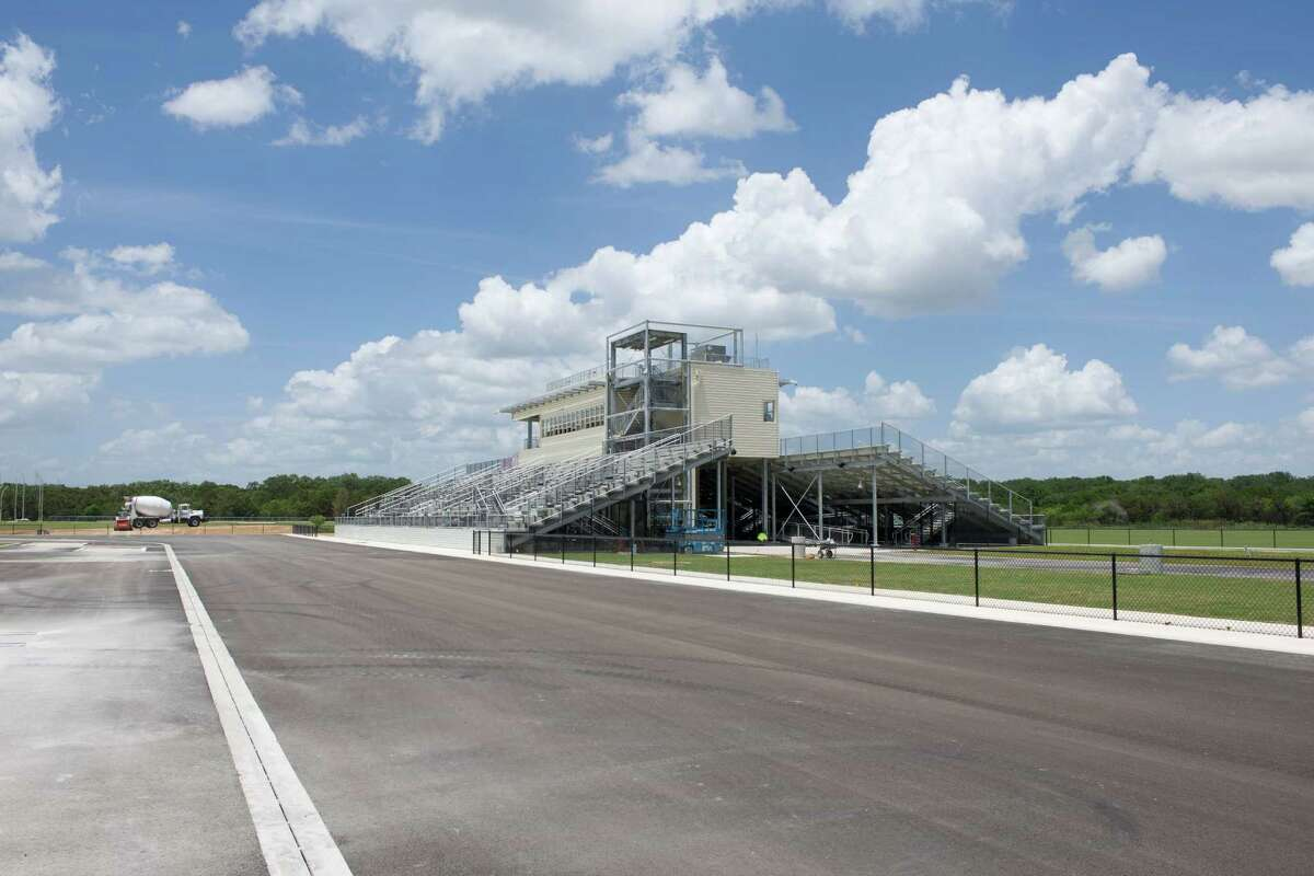 UTSA's Park West Athletics Complex, seen in a photo taken during construction in June, consists of two facilities -- a track and a soccer field. Officials will hold a dedication ceremony for the complex at 6 p.m. on Friday, Aug. 16. The first competition will be held at 7 when the UTSA women's soccer team hosts the University of the Incarnate Word in an exhibition. The complex is located two miles west of the main campus off the Loop 1604 Frontage Road and Kyle Seale Parkway.
