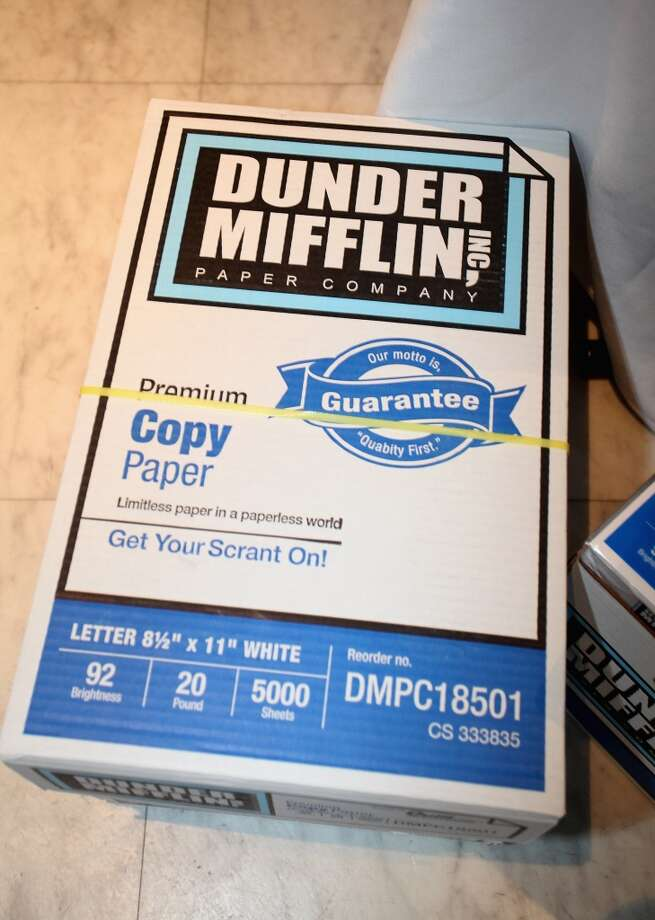 A ream of Dunder Mifflin copy paper. Photo: Donald Bowers