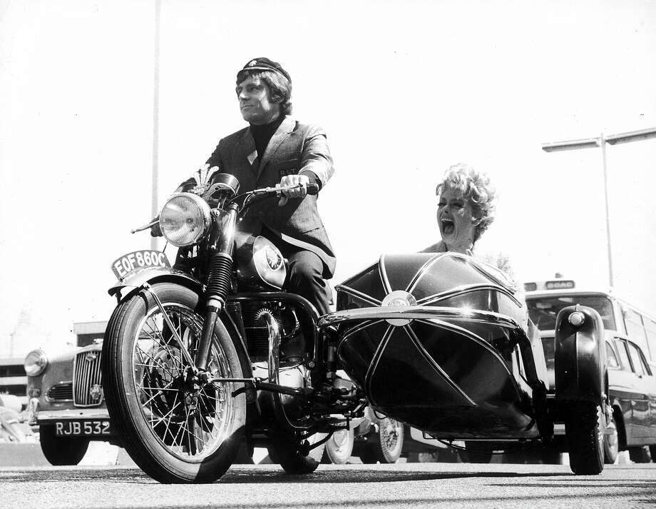 Lucille Ballgets a sidecar ride. Photo: Express, Getty Images / 2010 Getty Images