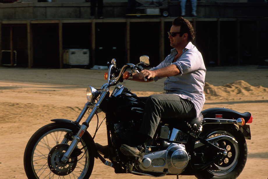 Dan Aykroyd riding in the late 80s. Photo: Time Life Pictures, Time & Life Pictures/Getty Image / Time Life Pictures