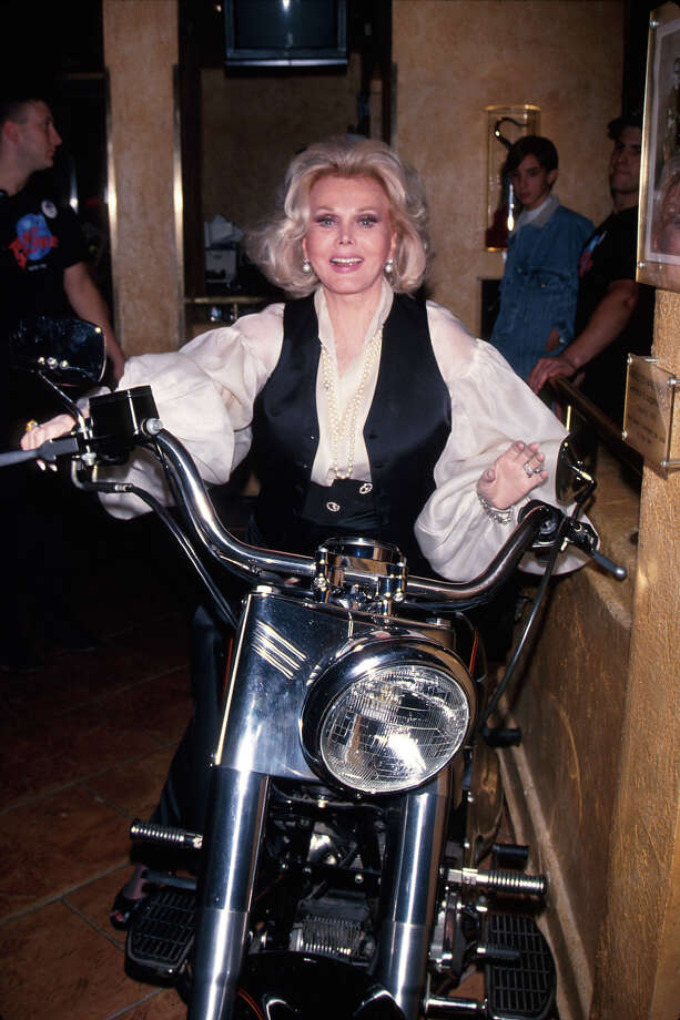 Zsa Zsa Gaboron a motorcycle. Photo: Time Life Pictures, Time & Life Pictures/Getty Image / Time Life Pictures