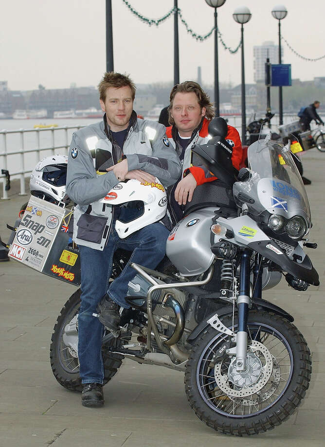 "Charley Boorman and Ewan McGregor circumnavigated the globe on BMW GS1200s in ""The Long Way Round."" Photo: Steve Finn, Getty Images / 2004 Getty Images"
