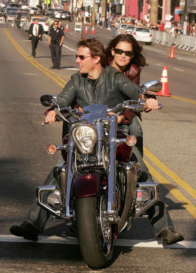 "Tom Cruise has been riding bikes in films since ""Top Gun."" Photo: Kevin Winter, Getty Images / 2005 Getty Images"
