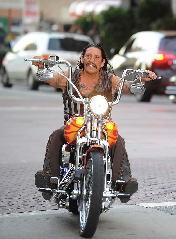 Danny Trejo looking bad-ass with his ape hangers.  Photo: Jason Merritt, Getty Images / 2010 Getty Images