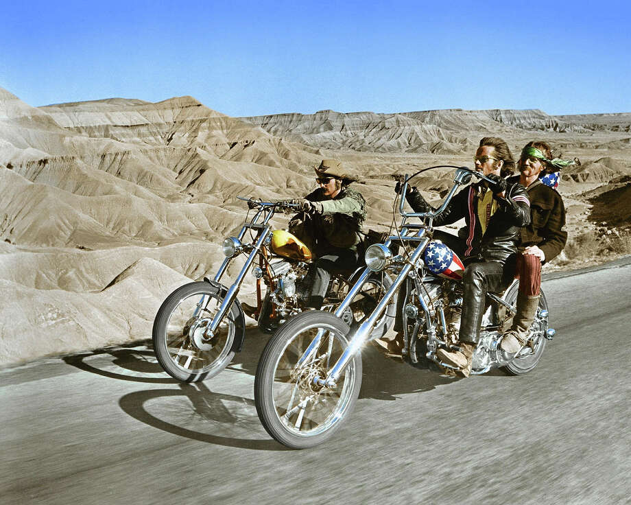 "Dennis Hopper and Peter Fonda in ""Easy Rider."" Photo: Silver Screen Collection, Getty Images / Moviepix"