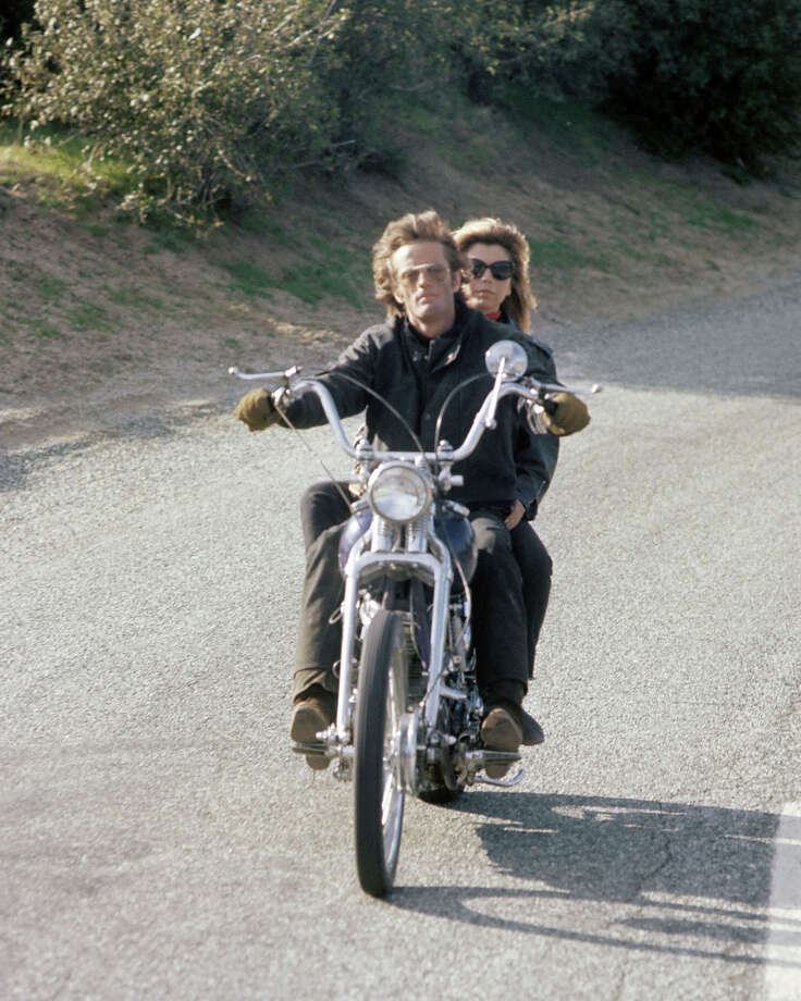"Peter Fonda and Nancy Sinatra in a still for ""The Wild Angels."" Photo: Silver Screen Collection, Getty Images / Moviepix"