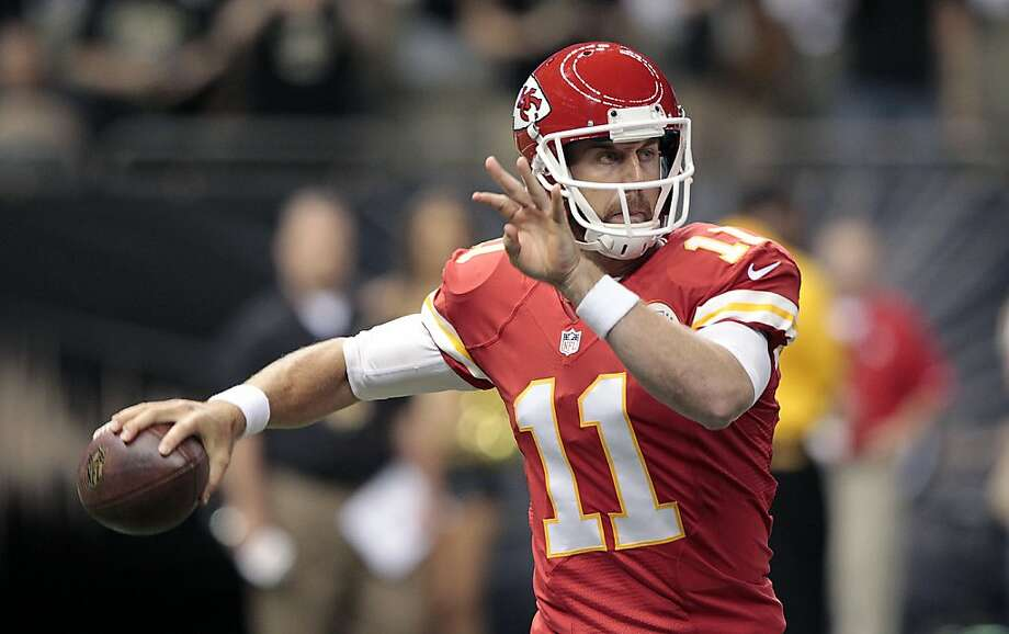 Ex-49er Alex Smith, like Joe Montana, wound up at the Chiefs. Photo: Matthew Hinton, Associated Press