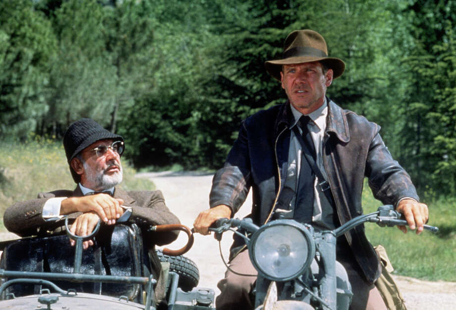 "Harrison Fordand Sean Connery escape from Nazis in ""Indiana Jones and the Last Crusade."" Photo: Murray Close, Getty Images / 2011 Murray Close"