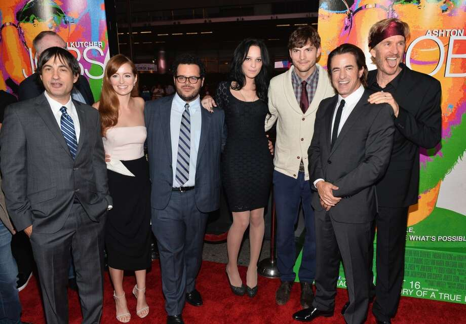 "Director Joshua Michael Stern, actors Ahna O'Reilly, Josh Gad, Ruby Modine, Ashton Kutcher, Dermot Mulroney and Matthew Modine attend the screening Of Open Road Films And Five Star Feature Films' ""Jobs."" Photo: Alberto E. Rodriguez, Getty Images"