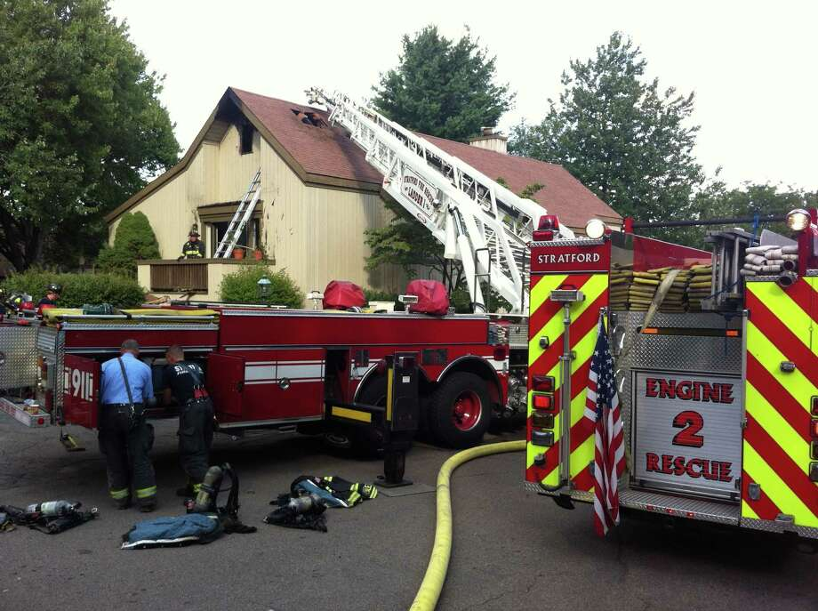 A fire damaged a condo in Oronoque Village in Stratford on Aug. 15, 2013. Photo: John Burgeson / Connecticut Post