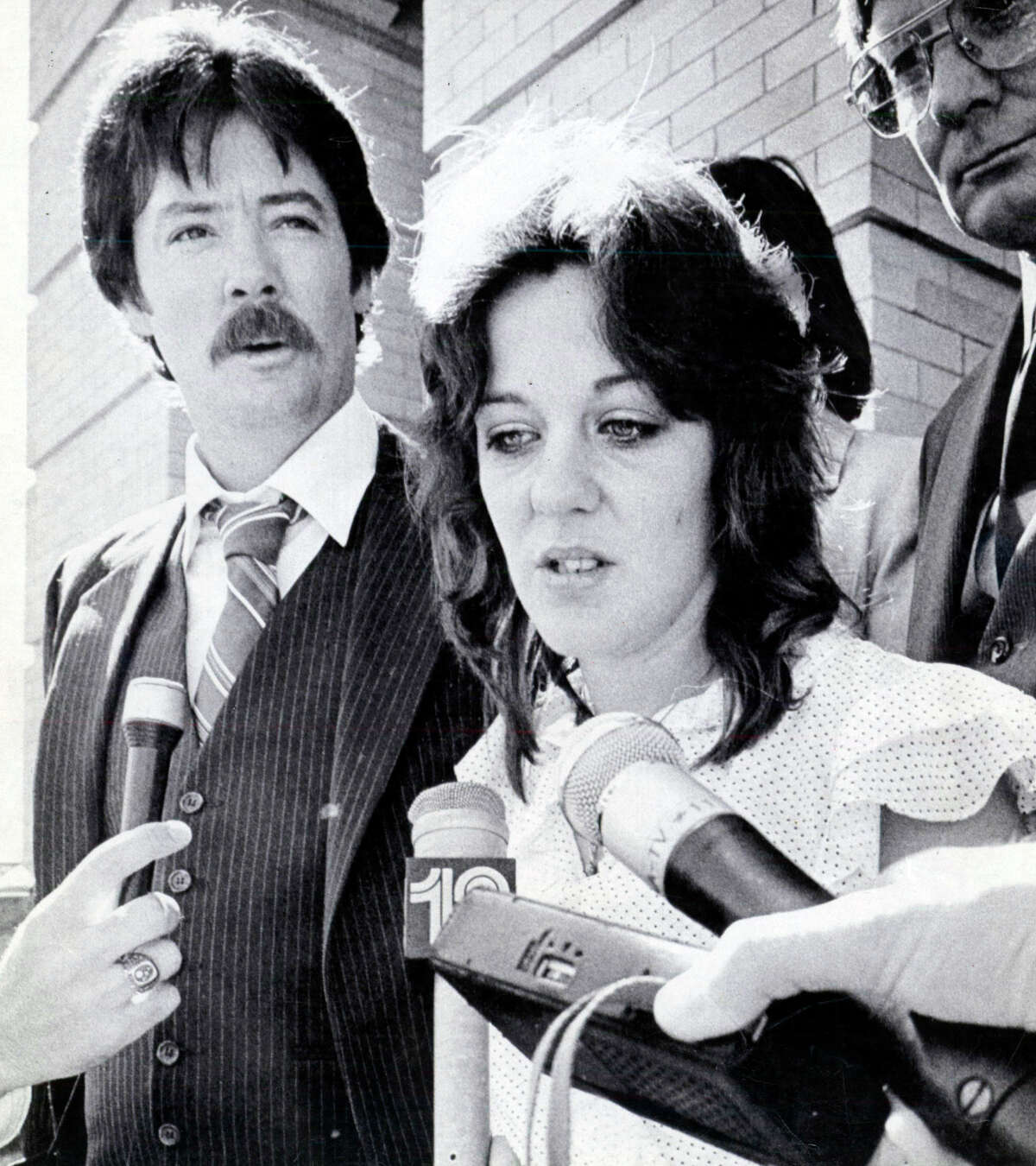 2/26/1984 Georgetown, Texas: Following the sentencing of nurse Genene Jones to 99 yearss for the murder of 15 month old Chelsea Ann McClellan, the parents of Chelsea met with reporters. Reid and Petti McClellan said that the end of the trial brought a great sense of relief. Jones -- who worked in the pediatric intensive care unit of University Hospital, formerly Medical Center Hospital, from 1981 to 1982 -- was also convicted in a separate case in which the child survived. She's a suspect in 46 other cases that have not seen a court date.