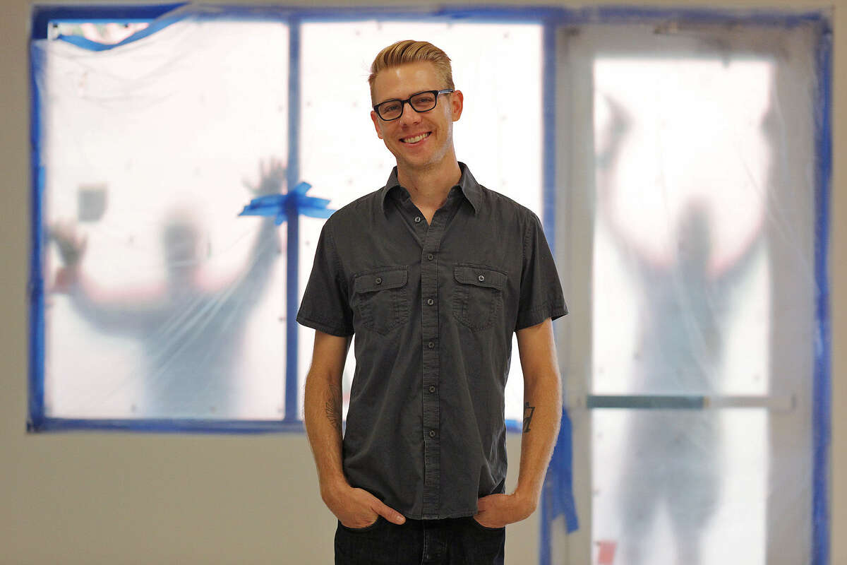 Justin Boyd, amid the school's renovation, heads the Southwest School of Art's Sculpture and Integrated Media Department.