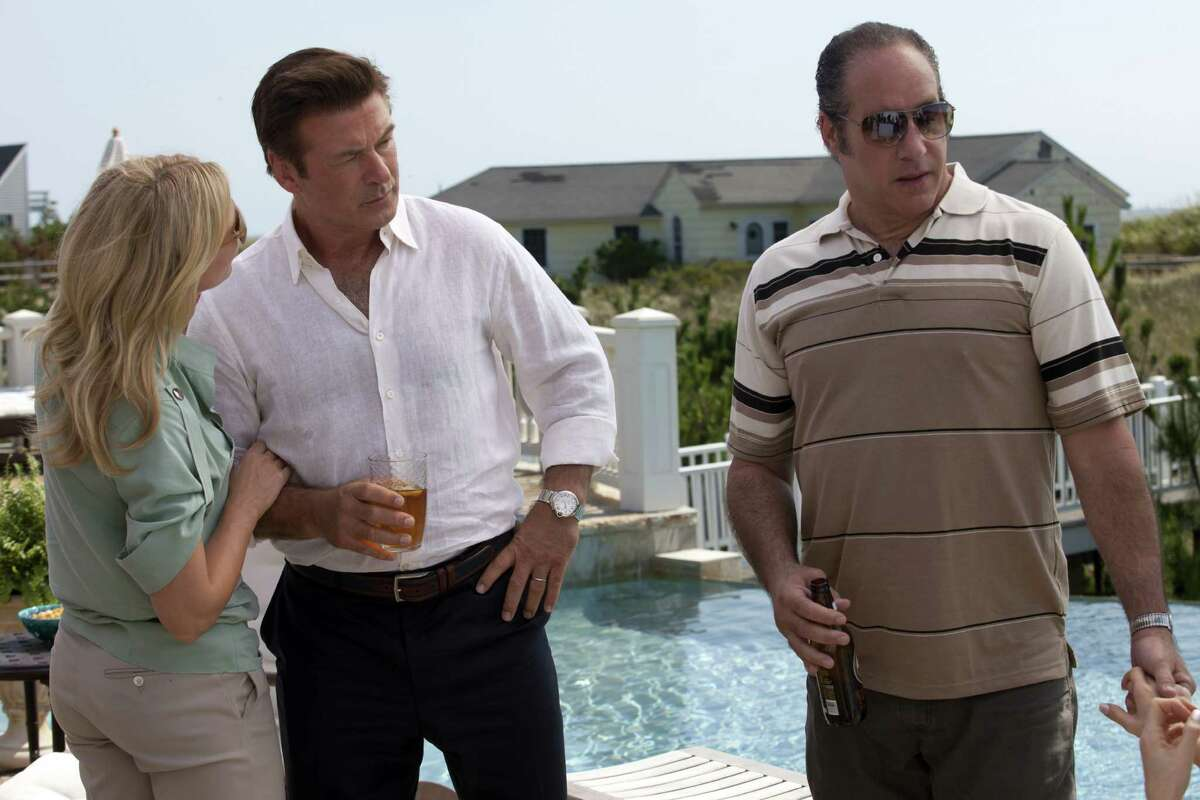 """The cast of """"Blue Jasmine"""" mixes actors such as Cate Blanchett and Alec Baldwin (center) with comedians, including Andrew Dice Clay."""