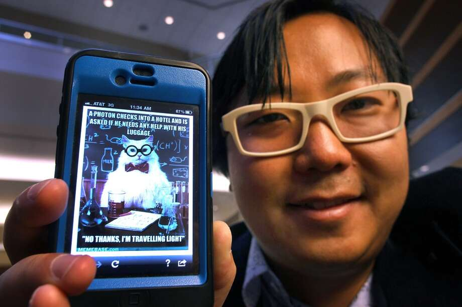 "I Can Has Cheezburger founded Ben Huh starred, along with his office colleagues, in Bravo's ""LOLwork"" last year, featuring the kooky staff behind internet empires such as LOLcats. The series only lasted six episodes and was yanked from the air after low ratings performance. Photo: Boston Globe, Boston Globe Via Getty Images"