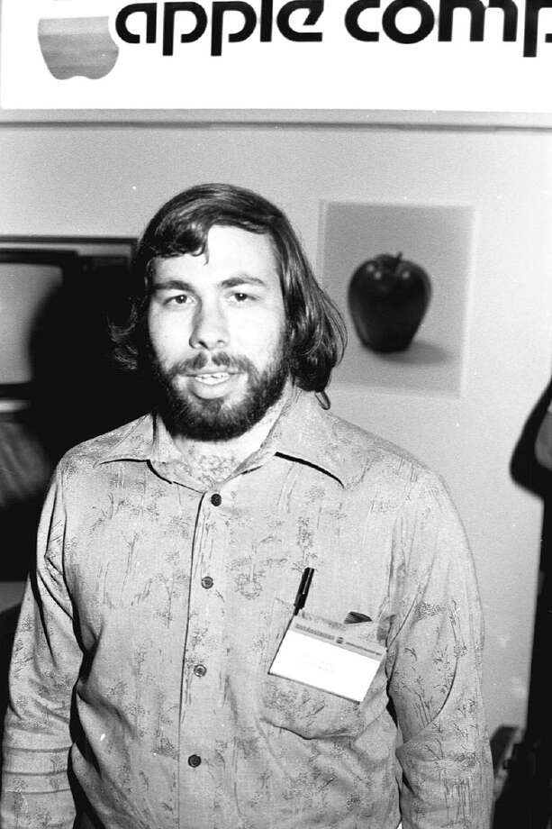Here's Steve Wozniak at the first West Coast Computer Faire, in San Francisco in 1977, where the Apple II computer was debuted. Photo: Tom Munnecke, Getty Images / Hulton Archive