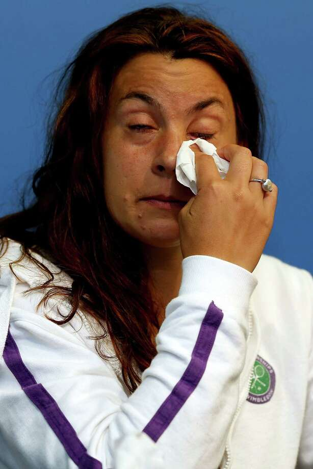 CINCINNATI, OH - AUGUST 14:  Marion Bartoli of France announces her retirement from professional tennis during the Western & Southern Open on August 14, 2013 at Lindner Family Tennis Center in Cincinnati, Ohio. Photo: Matthew Stockman, Getty Images / 2013 Getty Images