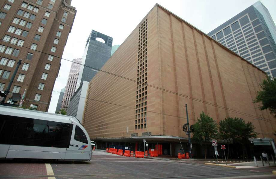 The downtown Macy's - and former Foley's - is scheduled for implosion at ten minutes after sunrise on Sunday, Sept. 22. Photo: Mayra Beltran, Staff / © 2013 Houston Chronicle