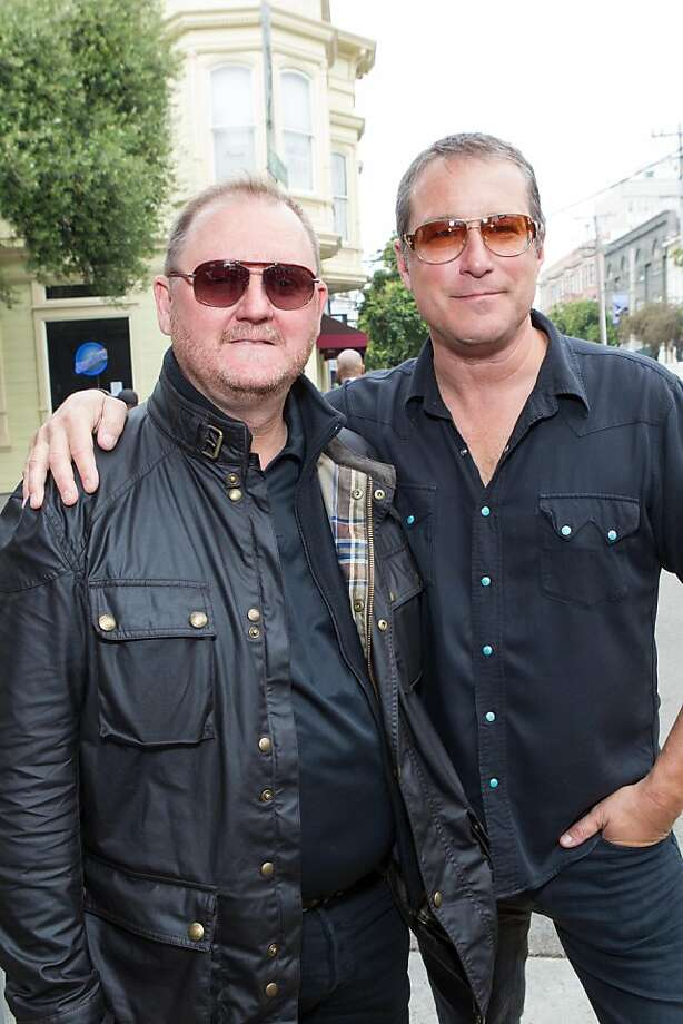 Guests at the Aug. 5 Kiehl's Life Ride included Ken Frost and actor John Corbett (right). Photo: Drew Altizer Photography