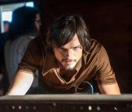 "Ashton Kutcher plays Steve Jobs in the movie ""Jobs."""