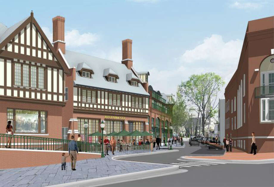 A rendering of the proposed Bedford Square project, which was approved by the Planning and Zoning Commission on August 15, 2013. Photo: Contributed Photo / Westport News