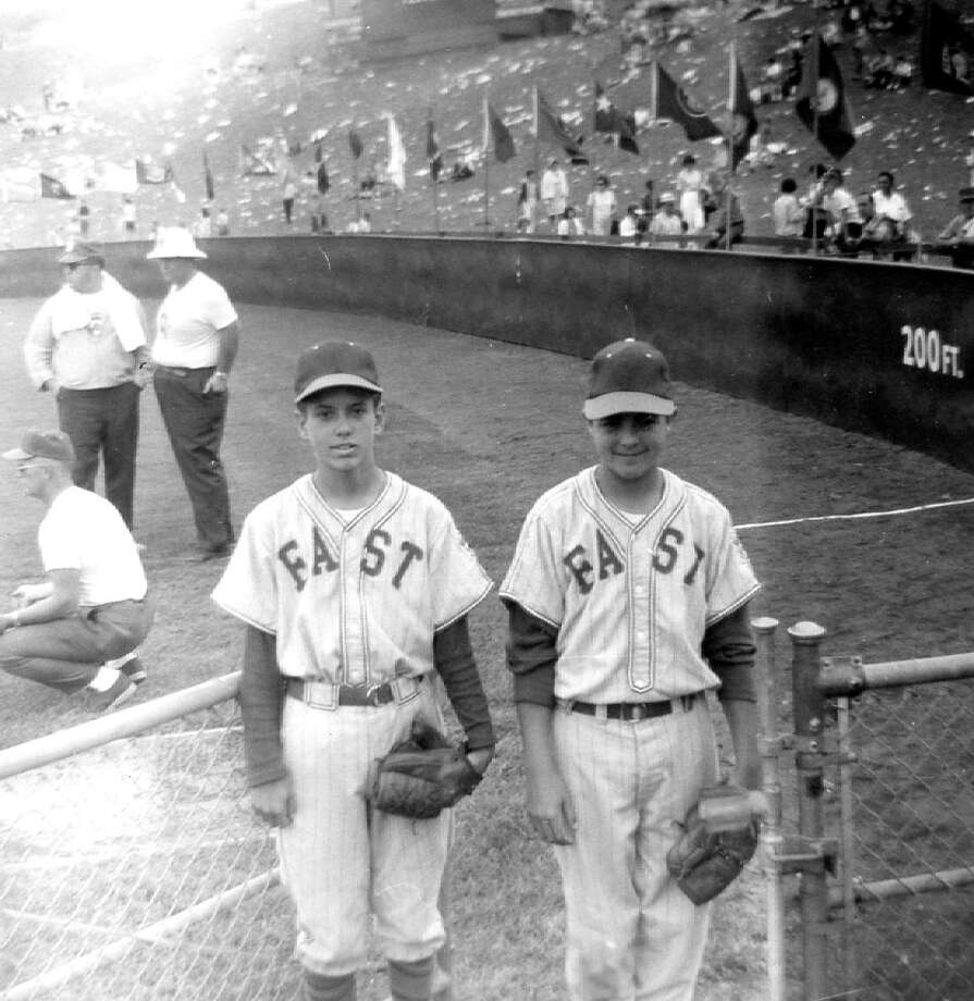 Stratford's John Slosar, left, and Ronald DeFeo share a moment to pose in Williamsport, Pa., during the Little League World Series in 1963. Photo: Contributed Photo