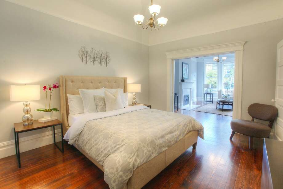The master bedroom opens up to a sitting room. Photo: Lauren Cassidy