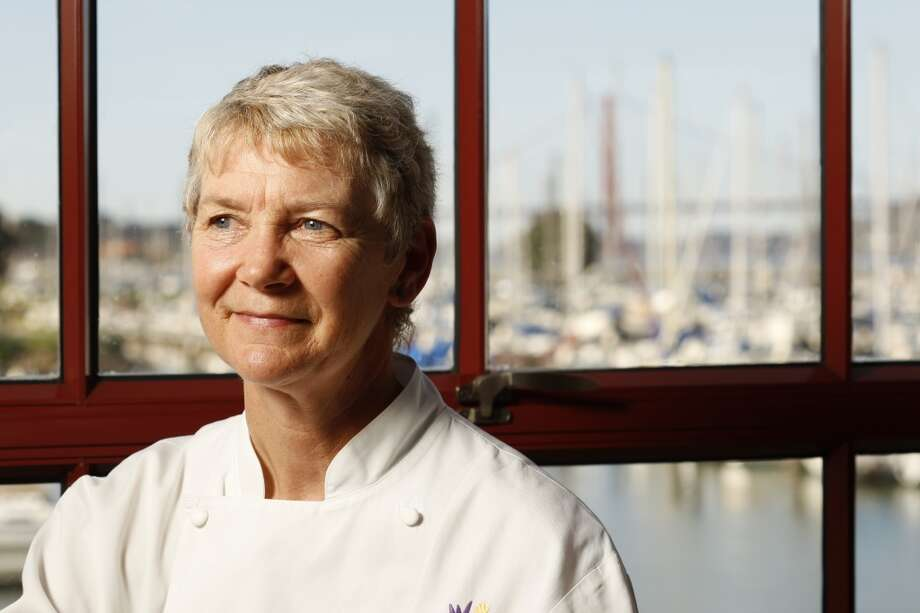 Greens:Executive chef Annie Somerville has won acclaim for her vegetarian menu, but the view from the iconic Fort Mason dining room isn't so bad, either. Photo: Craig Lee, The Chronicle