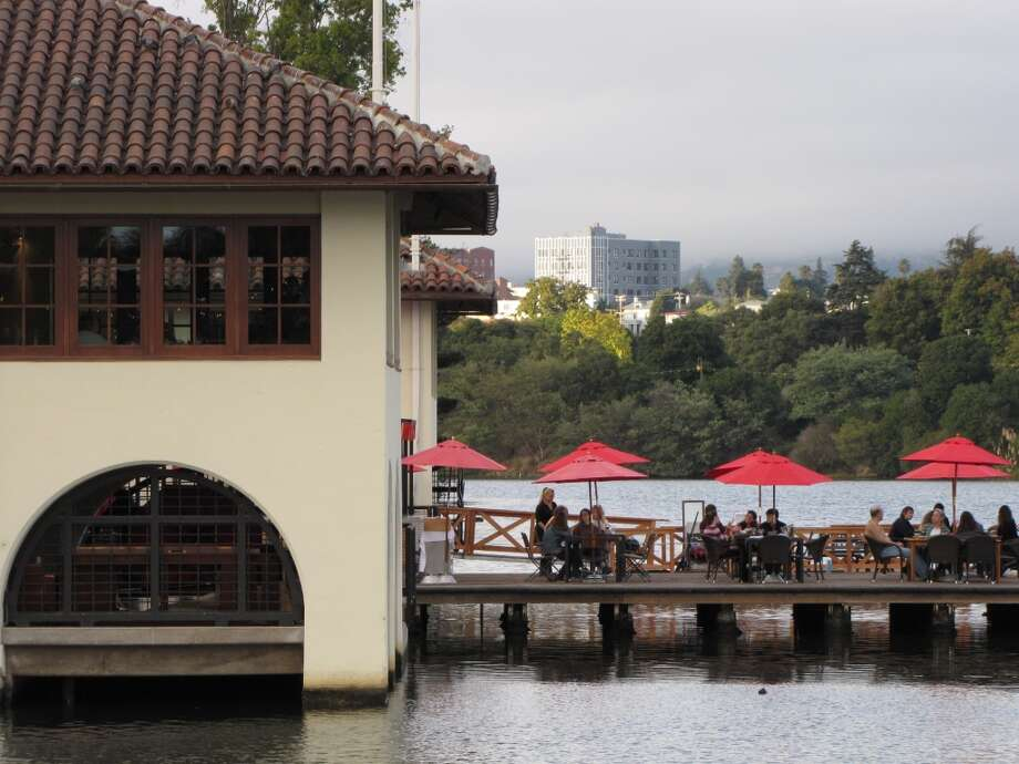 Lake Chalet: The Beach Chalet's  Oakland spinoff in a  century-old boathouse on Lake Merritt also has reader-recommended views. Photo: Stephanie Hession
